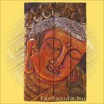 Buddha falikép bordó