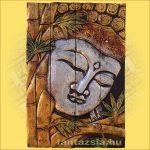 Buddha falikép ezüst
