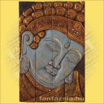 Buddha falikép kék