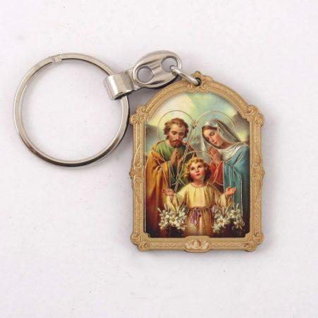 Szent Család Faplakett Kulcstartó