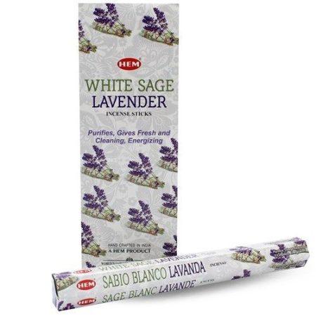 Hem White Sage Lavender/Hem Fehér zsálya és levendula indiai füstölő