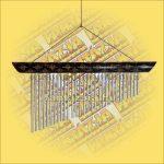 Szélcsengő Bambusz/Díszített/Harminc csővel