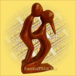 Absztrakt fafaragvány 15 cm P, Indonéz Sono Fa