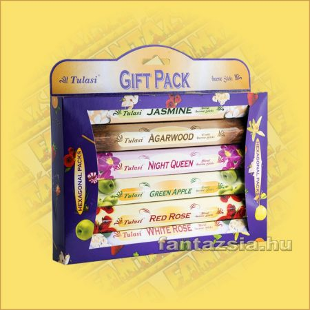 Tulasi 6db-os Füstölő ajándékcsomag /Tulasi Hexagonal Gift Pack/