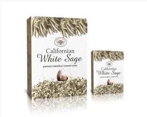 Green Tree-Californian White Sage-Kaliforniai Fehér Zsálya Back Flow-lefelé áramlós kúp füstölő