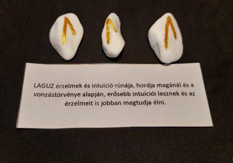 LAGUZ-Rúna talizmán-görög márvány