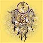 Álomfogó-Álomőrző-Álomcsapda lila 17cm