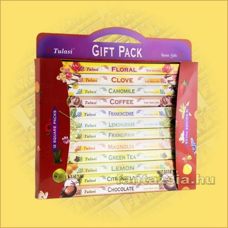 Tulasi 12db-os Füstölő ajándékcsomag  /Tulasi Square Gift Pack/