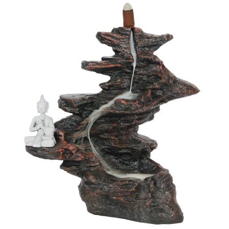 Nagy Szikla Buddhával-Back Flow-lefelé áramlós-folyékony füst- füstölőtartó