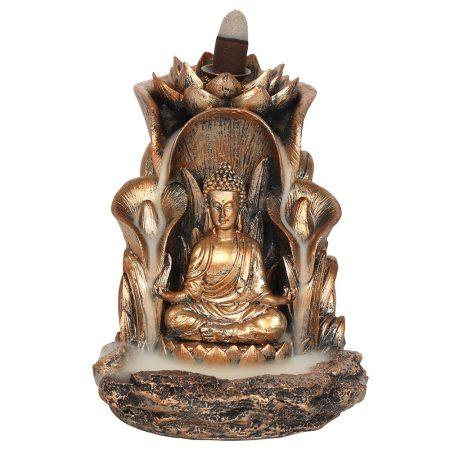 """""""Bronz színű Buddha""""-Back Flow-lefelé áramlós füstölőtartó"""