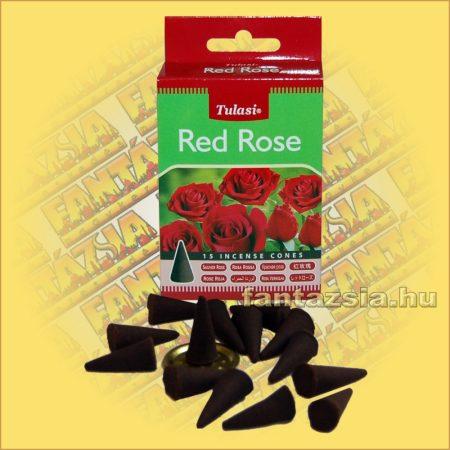 Vörös Rózsa illatú kúpfüstölő