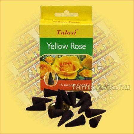 Sárga Rózsa illatú kúpfüstölő