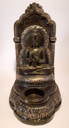 Buddha mécsestartó hátlappal I.
