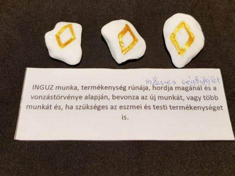 INGUZ-Rúna talizmán-görög márvány