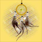 Álomfogó-Álomcsapda-Álomőrző velúr sárga 6cm