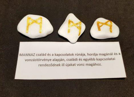 MANNAZ-Rúna talizmán-görög márvány