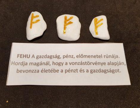 FEHU-Rúna talizmán-görög márvány