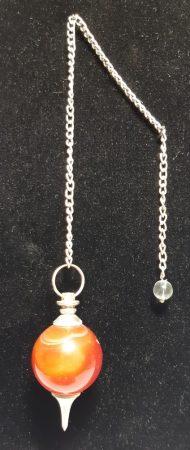 ásvány inga - karneol - gömb csiszolású
