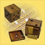 Játék dobokocka puzzle fatokos