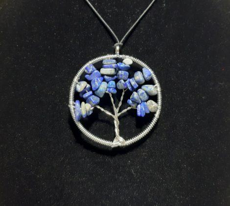 Életfa medál-Lapis Lazuli