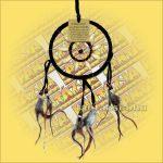 Álomcsapda-Álomfogó-Álomőrző dupla fekete 12cm