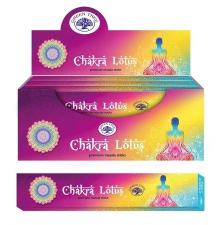 Green Tree-Chakra Lotus-Csakra Lótusz Masala Füstölő