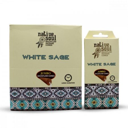 Green Tree-Native Jumbo-White Sage-Fehér Zsálya Back Flow lefelé áramló kúp (folyékony füst)