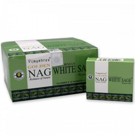 Golden Nag White Sage-Fehér Zsálya- Masala Kúpfüstölő