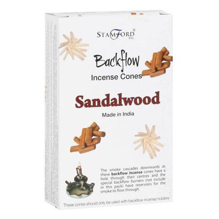 Tulasi-Stamford-Sandalwood-Szantálfa-Backflow füstölőkúp