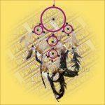 Álomőrző-Álomcsapda-Álomfogó rózsaszín 12cm