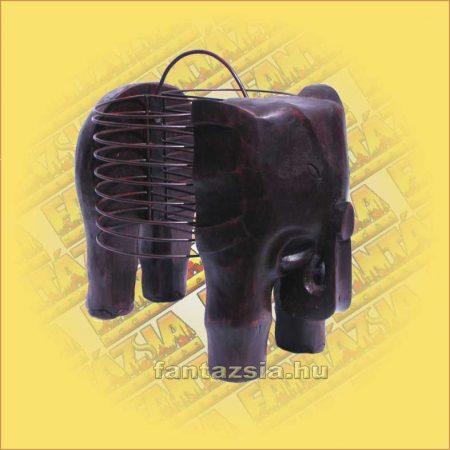 CD tartó fém elefántos
