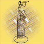 CD tartó fém trombitás