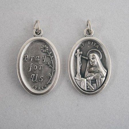 Szent Rita Ezüstözött Érme