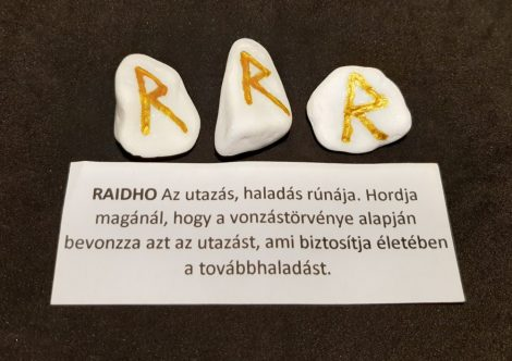 RAIDHO-Rúna talizmán-görög márvány