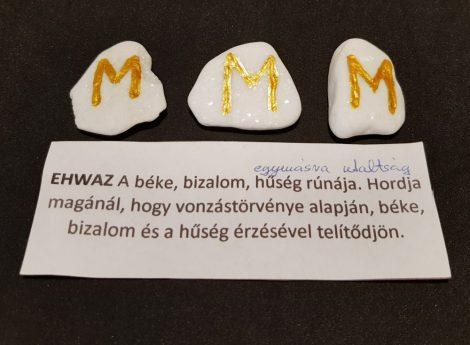 EHWAZ-Rúna talizmán-görög márvány