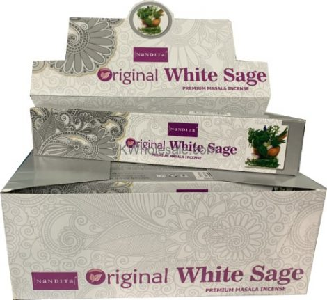 Nandita Original White Sage-Fehér Zsálya Masala Füstölő