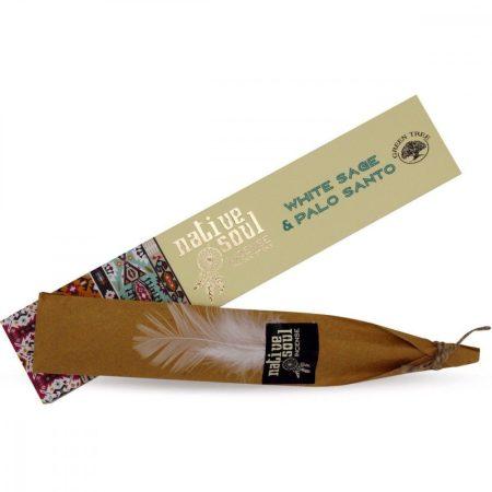 Green Tree-Native Soul- White Sage & Palo Santo-Fehér Zsálya és Palo Santo Masala Füstölő