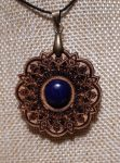 Cseresznyefa Mandala Medál-Lápisz Lazuli Ásvánnyal