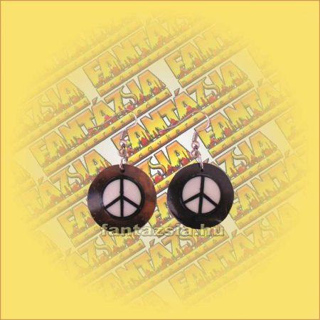 Fülbevaló kókusz, peace