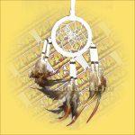 Álomfogó-Álomcsapda-Álomőrző velúr fehér 6cm