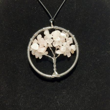 Életfa medál-Rózsakvarc