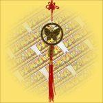Szerencsehozó Feng Shui függő pillangó szimbólummal