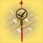 Szerencsehozó Feng Shui függő sas szimbólummal