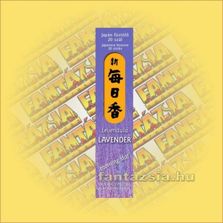 Lavender (Levendula) Morning Star Japán füstölő