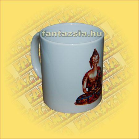 Buddha Dnyana Mudra Kerámia Bögre