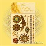 Aranytetoválás/fényes fémtetoválás egyiptomi mandala szimbólummal