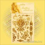 Aranytetoválás/fényes fémtetoválás Barokk szimbólumokkal
