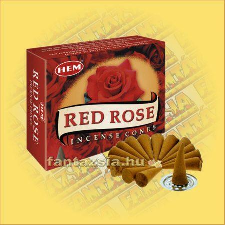 Vörös Rózsa Illatú Kúpfüstölő / HEM Red Rose