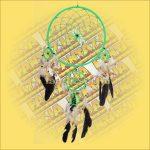 Álomfogó (álomőrző) zöld 32cm