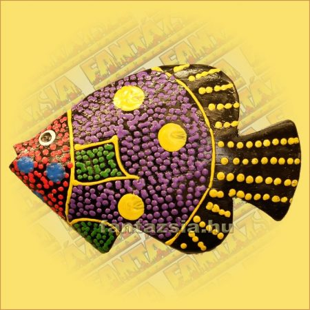 Trópusi Hal Hűtőmágnes-Q /Aboriginal Festéssel